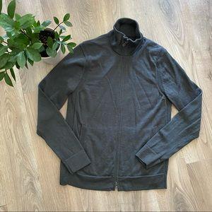 Banana Republic Grey Wool Sweater with Full Zip